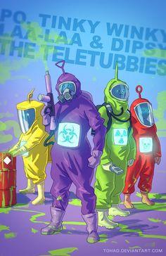 Teletubbies - 17 ilustrações mostram seus personagens favoritos como você nunca viu - Mega Curioso