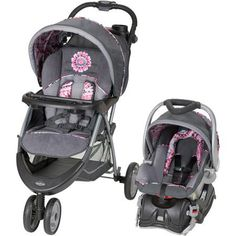 The EZ Ride 5 Travel System in Paisley includes a fixed back infant car seat with an EZ Flex-Loc stay in car base. The Baby Trend EZ Ride 5 Travel System is the Car Seat And Stroller, Pram Stroller, Baby Car Seats, Toddler Stroller, Infant Toddler, Toddler Girl, Best Baby Strollers, Double Strollers, Baby Jogger