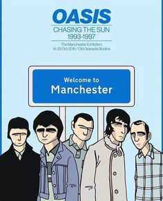 Pete McKee was recently asked by Oasis to create a poster for 'Chasing The Sun' the upcoming exhibition about the band in Manchester. Liam Oasis, Pete Mckee, Oasis Music, Andy Capp, Oasis Band, Liam And Noel, Acrilic Paintings, Noel Gallagher, Britpop