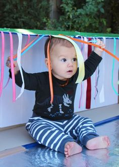carboard sensory boxes for babies and toddlers