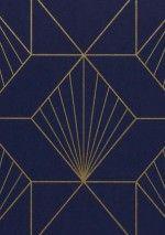 17235,86Ft Prix par rouleau (par m2 3252,05Ft), Papier peint géométrique, Matériel de base: Papier peint intissé, Surface: Lisse, Aspect: Motif chatoyant, Surface mate, Design: Éléments graphiques, Couleur de base: Bleu nuit, Couleur du motif: Doré, Caractéristiques: Bonne résistance à la lumière, Difficilement inflammable, Arrachable à sec, Encollage du mur, Lessivable
