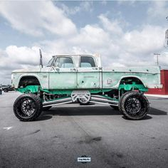 One of a kind custom lifted Dodge crew cab pickup truck Old Dodge Trucks, Jacked Up Trucks, Big Rig Trucks, New Trucks, Custom Trucks, Cool Trucks, Cool Cars, Dodge Cummins, Lifted Cars