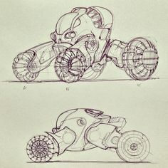 A couple of ball point pen sketches from the book DRIVE.