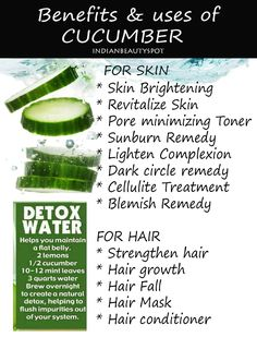 beauty benefits and DIYs using cucumber - https://www.facebook.com/indianbeautyspot