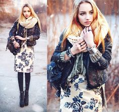 lookbookdotnu: Snow and Roses (by Aksinya Air)