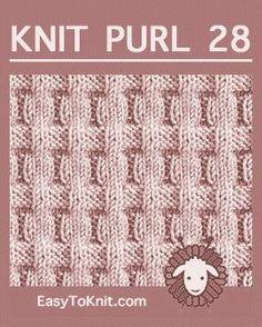 #Knit Belt Welt stitch, Easy Knit Purl Pattern #easytoknit