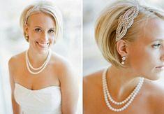 Coupe de cheveux courts pour mariage