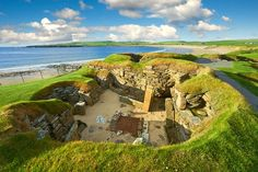 Picture of a Neolithic house still standing in the settlement of Skara Brae on Scotland's Orkney Island