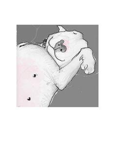 Sleeping Terrier Print to frame by TheTerriersClub on Etsy, $10.00