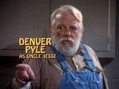 Denver Pyle as Uncle Jesse from Dukes of Hazzard 1970s Tv Shows, Old Tv Shows, Movies And Tv Shows, Oncle Jesse, Denver Pyle, Bo Duke, Dukes Of Hazard, Childhood Tv Shows, General Lee