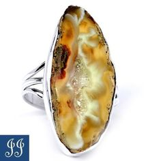 VERY-UNIQUE-GEODE-DRUZY-925-STERLING-SILVER-RING-SIZE-9-5
