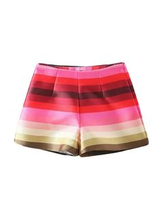 like a rainbow!!!#multicolor_shorts#high_waist# https://www.nopants-elinor.com