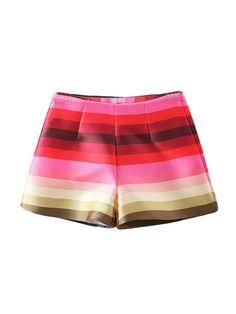 like a rainbow!!!#multicolor_shorts#high_waist# https://www.nopants-elinor.com