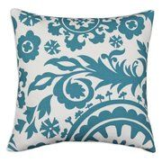 Chooty and Co Suzani True D-Fiber Pillow - Turquoise