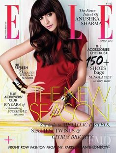Covers of Elle India , 000 2013 Magazine Cover Design, Magazine Covers, Anushka Sharma Bikini, Celebrity Magazines, Fashion Magazines, Dior, Model Outfits, Elle Magazine, Cover Model
