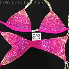 Super Ombre bling, trans from yellow to coral to fuchsia. Www.waterbabiesbikini.com Competition bikinis