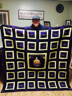 Crown Royal Quilt  I made this for Wes
