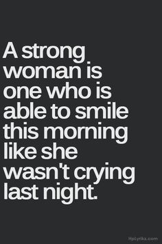 Trying to stay strong...not easy but nothing worth it is.