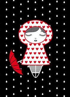 Under the rain Art Print by follesmarquises | Society6