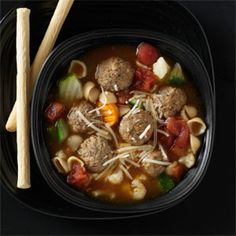 Vegetable Meatball Soup Recipe -This is a delicious soup recipe that takes less than 30 minutes to prepare and is a great way to use up leftover meatballs. The broth is so light and flavorful,  everyone wants the recipe!