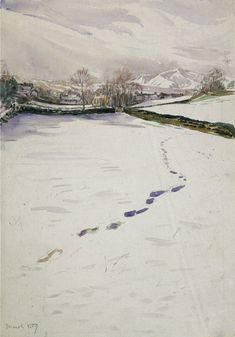 Footprints in snow March 1909 by Beatrix Potter: Place as Inspiration - Victoria and Albert Museum