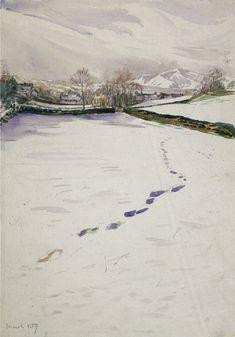 Beatrix Potter, 'Sketch of Footprints in Snow (1909)' © Frederick Warne & Co. 2006