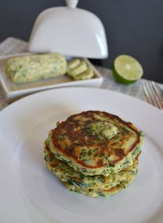 Spinach and spring onion pancakes