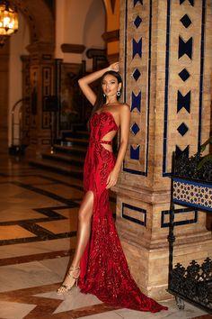 Red Homecoming Dresses, Gala Dresses, Event Dresses, Nice Dresses, Formal Dresses, Long Mermaid Dress, Mermaid Dresses, Dress And Heels, Dress Up