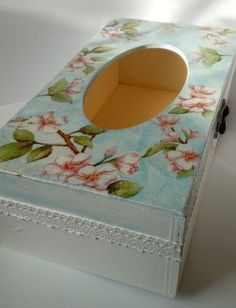 #box #wood #diy #decoupage #flowers #spring #folk