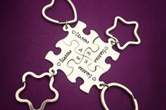 Sisters  Hand Stamped Matching Keychain Set Stainless Steel by StampedMemoriesbyMel, $55.00 - Great Christmas Gift for Sisters, Best Friends, Brothers, Cousins, anyone!