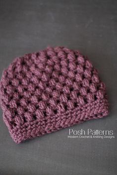 messy bun hat crochet pattern
