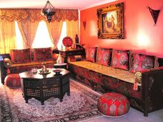 Moroccan Living Room Patterned Furniture