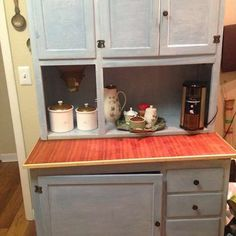 Antique Hoosier Cabinet refinished. Entire piece had to be ...