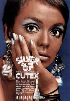 Cutex Silver Makeup advertisement 1967