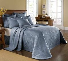 Extra+Large+King+Size+Bedspreads | King Charles Bedspreads King Charles Powder Blue