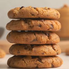 These peanut butter chocolate chip cookies are the best thing ever. Packed with peanut butter flavor and loads of chocolate chips. Soft, chewy and divine. Baking Recipes, Cookie Recipes, Snack Recipes, Dessert Recipes, Snacks, Easy Chocolate Chip Cookies, Peanut Butter Cookies, Chocolate Chips, Food Crush