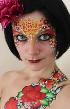 eye designs adult face paint - Google Search