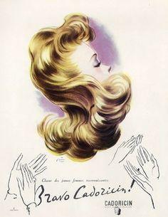 Cadoricin hair care and cosmetics, 1947