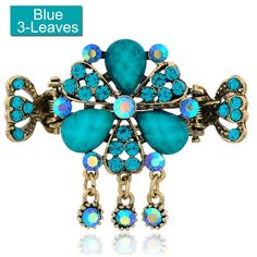LiveZone Fashion Alloy Flowers Hair Claw Jaw Clip Ornaments Accessory Women Girls Hair Clip Hairclip Ponytail Holder and Free One LiveZone Gift-Chinese Traditional Hair Stick Hairpin ,Blue >>> Read more reviews of the product by visiting the link on the image.