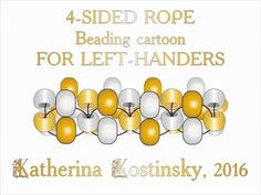 Four-Sided Beaded Rope FOR LEFTIES - YouTube