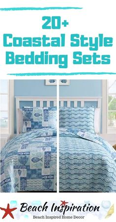 20 Coastal Bedding Sets For Beach Themed Bedroom Coastal Bedding Sets For Beach Themed Bedroom. Check out these beautiful beach bedding sets perfect for bringing a little ocean inside your home. Beach Bedding Sets, Coastal Bedding, Coastal Bedrooms, Shabby Chic Pink, Beach House Bedroom, Home Bedroom, Cool Kids Bedrooms, Art Deco, Bedroom Themes