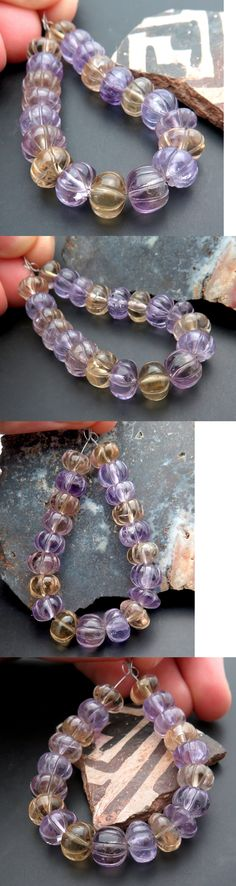 Amethyst 10192: 20 Stunning Hand Carved 8.3-8.6Mm Amethyst And Citrine Melon Flower Beads Aaaaa -> BUY IT NOW ONLY: $35.2 on eBay!
