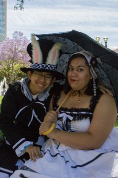 David and I at FanimeCon 2013. Dressed up in Lolita inspired outfits. My mad hatter <3 Photography by David Nguyen Photography