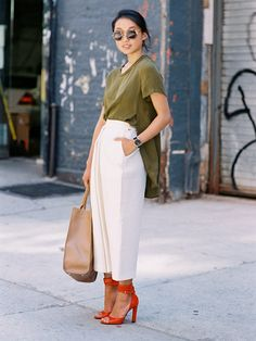 HOW TO WEAR : WIDE LEG PANTS | Denim & Dumplings