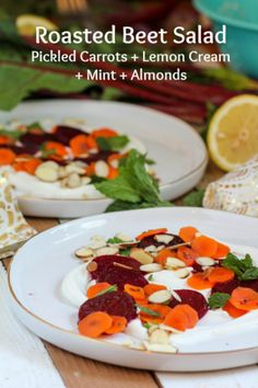 Roasted Beet Salad - what a combo of flavors! YUM