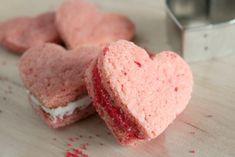 Heart-shaped sandwich cookies!