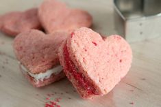 Heart-shaped sandwich cookies!
