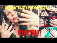 Asmr with my homemade polymer fancy claws.Testing my colorful extravagant diy claws tapping and scratching on various colorful shiny surfaces. Asmr, Claws, Polymer Clay, Fancy, Handmade, Diy, Color, Autonomous Sensory Meridian Response, Hand Made