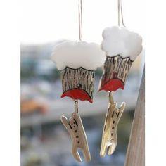 raining men, earrings Raining Men, Pop Art, Silver Plate, Brass, Christmas Ornaments, Holiday Decor, Earrings, Ear Rings, Stud Earrings