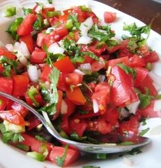 Recipe for Pico de Gallo - At our house, Mexican food is standard fare, I make up a batch at least once a week. And it is so yummy, especially if you have homegrown tomatoes.